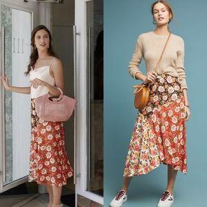 NEW Anthro Farm Rio Patchwork Floral Print Skirt